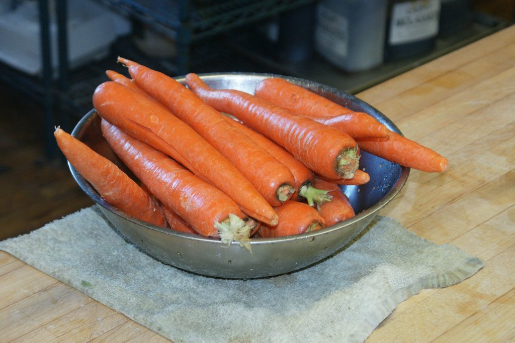 Bowl of carrots